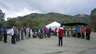 Awards after a rogaine at Henry W. Coe State Park
