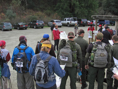 Instruction before the start of a rogaine
